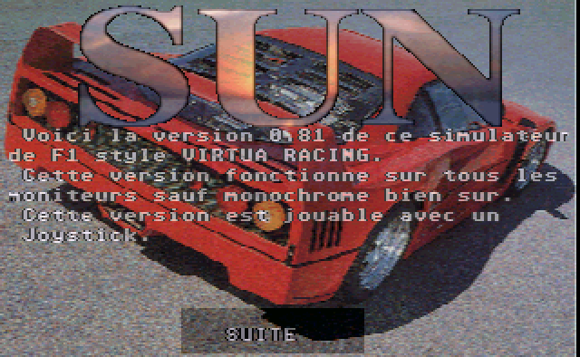 Sun [Falcon030] atari screenshot
